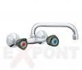 Baterija za sudoperu ili umivaonik KLASIK FUMME ROSAN zidna izliv 200mm