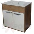 Ormar za kupatilo donji deo konzolni LEON 61 cm i lavabo SLIM 35-924